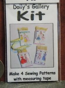 Dollhouse Miniature Sewing Patterns Set Kit 1:12  Inch Scale H73 Dollys Gallery
