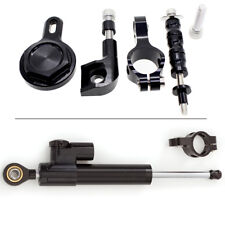 CNC Steering Damper Stabilizer Mounting Kit For Yamaha YZF R1 1998-2001 00 Black