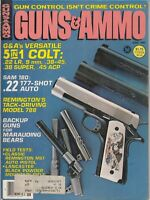GUNS & AMMO MAGAZINE - JUNE 1982 Colt , Remington , Sam 180