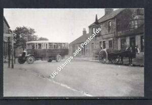 Venture Bus Company Albion Bus At Slamannan Cross c1930 Postcard Size Photograph