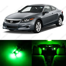 12 x Green LED Lights Interior Package For Honda ACCORD 2003 - 2012 Coupe Sedan