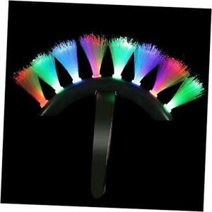 LED Light Up Fiber Optic Mohawk Wig Headband for Women & Men