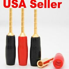6 Pairs Top Quality Speaker Wire Cable Pin Connector Banana Plugs Screw Type USA