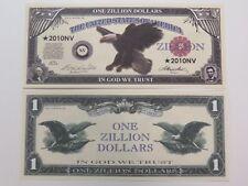 "American Eagle, George Washington ~ $1,000,000 One Million ""ZILLION"" Dollars"