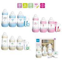 MAM Newborn Feeding Set Baby Self Sterilizing Milk Bottles Soother & Dummy Clip