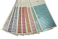 6MM FLOWER Gemstone 228 Pcs Self Adhesive Acrylic Rhinestones Stickers