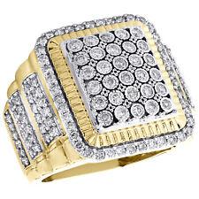 65e307d49b18 10 Quilates Oro Amarillo Diamante Acanalado Cuadrado Meñique Anillo 22mm  Step