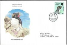 Falkland Islands Fdc - Rockhopper Penguin - European Size - Cacheted!
