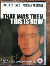 Emilio Estevez Craig Sheffer THAT WAS THEN THIS IS NOW ~ 1985 Teen Drama UK DVD