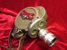 Tested Vtg WWII Bell and Howell 70-DR 16mm film movie cine camera c-mount lens