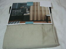 NEW Home from Target Heather Beige Linen Fabric Shower Curtain 72x72 NIP