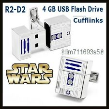 Star Wars R2-D2 4GB USB Flash Drive Cufflinks - NEW!!!