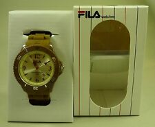 Fila Summertime Silikon Unisex Herren Damen Armbanduhr Armband Uhr braun - NEU