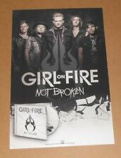 Girl on Fire Not Broken Album Promo 2013 Poster 11 x 17
