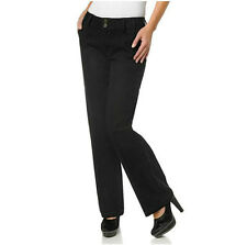 NEW NWT $50 DG2 DIANE GILMAN 10 BLACK TROUSER JEANS PANTS STRETCH DENIM TAILORED