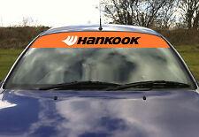 Hankook Tyres Tires Drift Touring Car Sunvisor Sun Visor Decal Sticker Orange