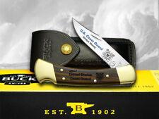BUCK 110 Folding Hunter United States ##2 Coast Guard Wood Pocket Knife Knives