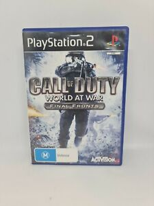 CALL OF DUTY WORLD AT WAR FINAL FRONT PS2 Complete PAL VGC Free Tracked Shipping