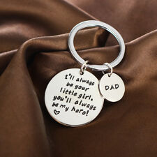 Gift For Dad Daddy Thank You Gift Daughter Keyring Birthday Gift Father Key Ring
