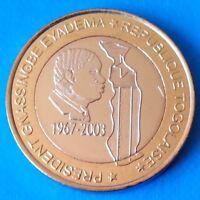 Togo 6000 CFA francs 2003 UNC 4 Africa President Elephant Bi-metallic unusual