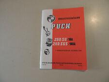 Puch 250 SG SGS SGA SGSA Ersatzteilkatalog Reprint