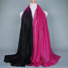 Womens Ombre Shade Pashmina Scarf Long Soft Stole Shawl Wrap Voile Scarves Hijab