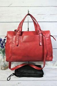 "RADLEY ""Barnsley"" Large Crossbody Shoulder Work Grab Bag Red Leather ~ Beautiful"