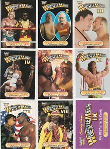 1993 WWF Coliseum Video Wrestlemania Card Complete Set of 9 Rare Hogan Warrior