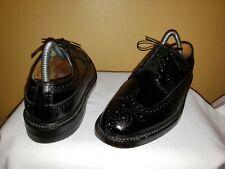 Vintage 92604 Florsheim Imperial Longwing Oxfords Sz 8.5C Black