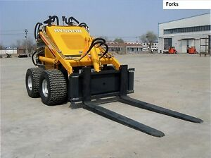 Hysoon mini digger pallet Forks with optional top safety rail