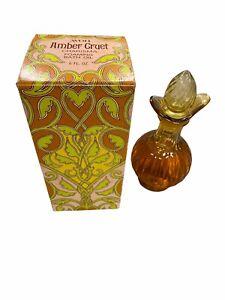 "Vintage Avon ""AMBER CRUET"" Bird of Paradise Foaming Bath Oil FULL 6 oz. - NEW!"