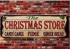 Vintage Style Christmas Store Sign Christmas Wall Plaque Christmas Gift