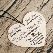 Shabby Chic Heart Birthday ChristmasTo Friends Plaque Sign Best Friend Gift NEW