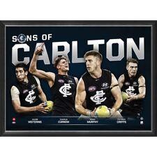 Sons of Carlton 2018 LE Official AFL Print Framed Marc Murphy Patrick Cripps