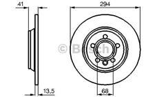 BOSCH Juego de 2 discos freno Trasero 294mm VOLKSWAGEN SEAT 0 986 478 569