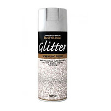 x1 Rust-Oleum Sparkling Silver Glitter Aerosol Spray Paint Clear Sealant Coat