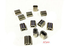 12 pcs Nickel Plated Copper Swage/Ferrule 3.2mm Swages for Wire Rope Balustrade