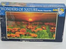"Wonders Of Nature 500 Piece Puzzle 18.25"" X 11"" New"