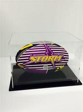NRL Rugby League Ball Acrylic Perspex Deluxe Display Case Memorabilia Post