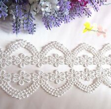 4.7cm wide Off White Non Stretch Venise Bridal Lace Trim By the METRE Beautiful.