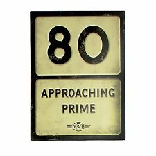 Plaque/Wall Sign ~ Metal Roadsign/Birthday/Motoring Theme Humour/Novelty