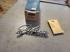NOS Emblem 1968 GALAXIE Ford Quarter Panel Script Letters Nameplate