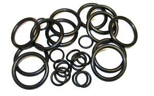 Black O-Rings. Rubber tap washer. Metric. Sealing. Plumbing. Various pack sizes.