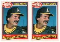 (2) 1989 Topps Hills Team MVP's Baseball #12 Dennis Eckersley Lot Athletics