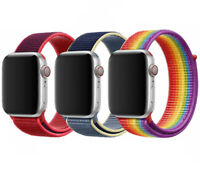 Nylon Woven Sport Loop iWatch Band Strap For Apple Watch Series SE 6/5/4 38-44mm