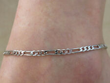 Solid 925 Sterling Silver Thick Foot Chain Anklet Ankle Bracelet Foot Jewelry z