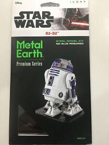 Metal Earth Disney Star Wars Premium Series 3D Steel Model Kit, R2-D2 NEW