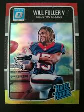 2016 OPTIC O RED and YELLOW REFRACTOR Will Fuller RC #200 TEXANS