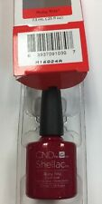 "CND SHELLAC ""RUBY RITZ"" RED GLITTER Holiday UV Gel Nail Polish 14+ day Wear LTD"