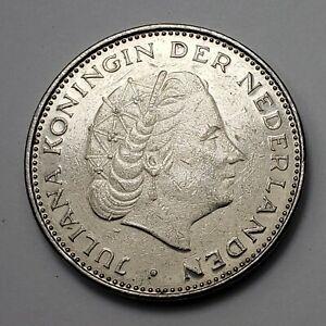 1971 Netherlands 2½ Gulden - Queen Juliana, KM# 191, XF/AU